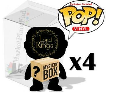 Funko POP! Lord Of The Rings - Mystery Box - 4 Randomly Selected - W/Protectors