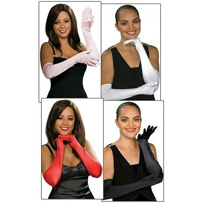 Stretch Satin Opera Length Gloves Adult Womens Above the Elbow