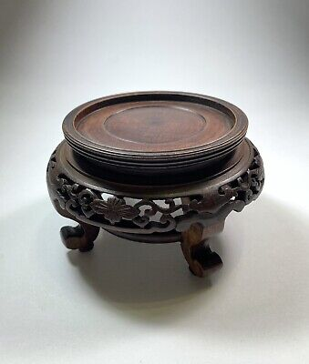 Chinese Antique Wood Hand Carved Stand