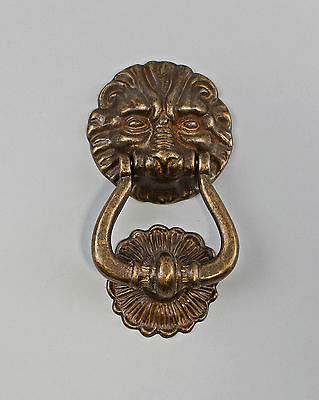 9977432 Door Knocker Lion Burnished Brass Historicism