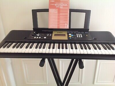 Yamaha YPT-220 Digital Keyboard with stand and Owners manual