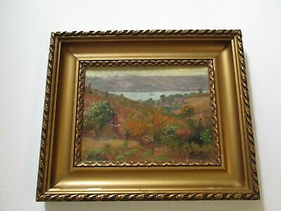 Albert Millet Painting Antique 19Th-20Th Century Impressionism Landscape Old