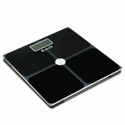 Everfit Digital Body Fat Weighing Scale Bathroom Gym Weight Glass LCD Electronic