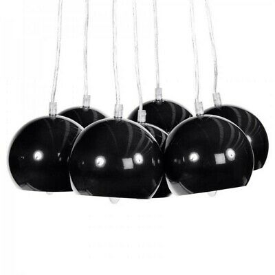 "Paris Prix - Lampe Suspension ""grappe"" Noire"
