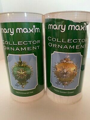 New Mary Maxim Collector Ornament Kits Lot Of 2