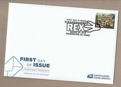 US 5410 T.Rex Tyrannosaurus with downy feathers Ceremony Program FDC 2019