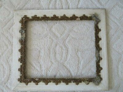 GORGEOUS Old Vintage Wall FRAME Very ORNATE Barbola Gesso Details All Around