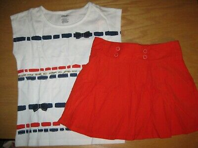 NWT Gymboree 5 6 7 8 10 PREP PERFECT 2pc Stitch Striped Bow Top /& Corduroy Skirt