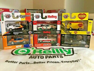 """O'Reilly M2 Machines  """"CHASE""""  '70 Ford Mustang BOSS 302, '79 Chevy Scottsdale"""