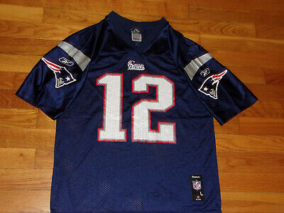 Reebok New England Patriots Tom Brady Nfl Football Jersey Boys Large 14-16 Nice