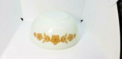 Vintage Pyrex LARGE 4-Quart GOLDEN BUTTERFLY 404 Mixing Nesting Bowl Cookware