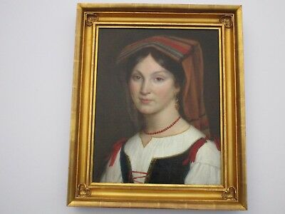 Antique 19Th Century Painting Gorgeous  Female Woman Model Realism Masterful Old