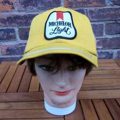 MICHELOB LIGHT baseball hat Anheuser-Busch beer cap w/ patch 1970s pale lager