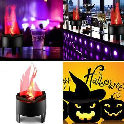 Halloween Prop LED Hanging Fake Flame Lamp Torch Light Fire Pot Bowl Decor 3W BC