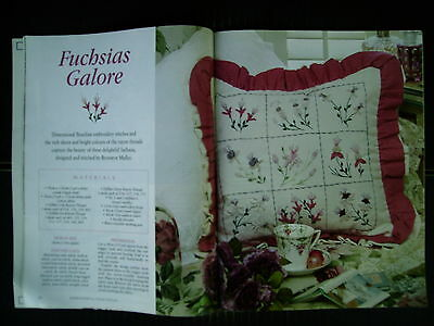 Embroidery & Cross Stitch Vol 10 #7~Country Vicarage~Roses~Snowflake~Candlewick