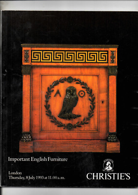 Important English Furniture Christies Auction Catalogue July 1993 Vg Cond