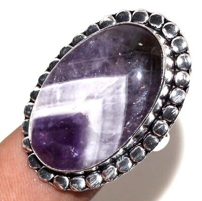 D28057 Amethyst Lace 925 Sterling Silver Plated Ring Us 9.5