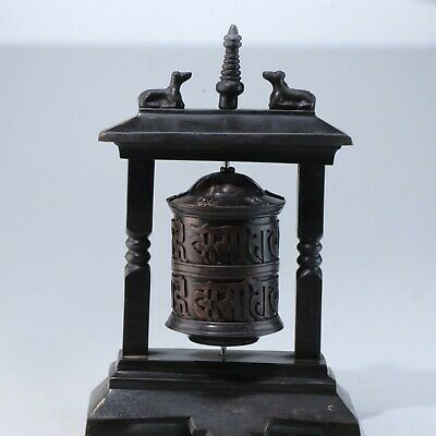 Prayer Wheel,Chinese Tibetan bronze Prayer Wheel