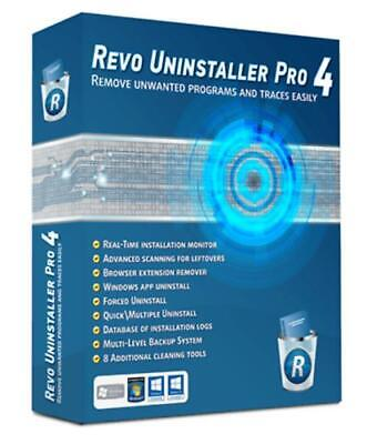 Revo Uninstaller PRO 4.1 Portable! Windows! Fast digital Delivery! Genuine