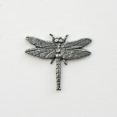 Pewter Dragonfly Pin Badge No Card (Larger than RSPB)