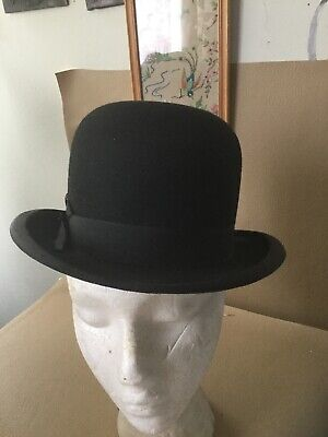 Vintage G A Dunn Bowler Hat Size 53 Or  6 5/8 Free Uk P&P
