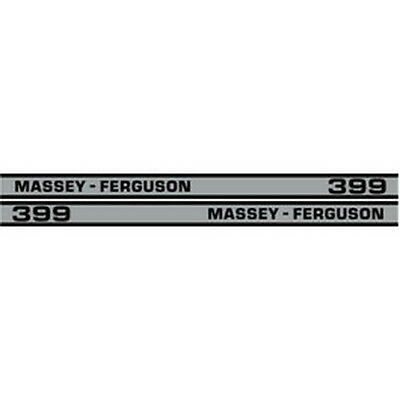 New 399 Massey Ferguson Tractor Hood Decal Kit Mf 399 Cab High Quality Decals 🎯