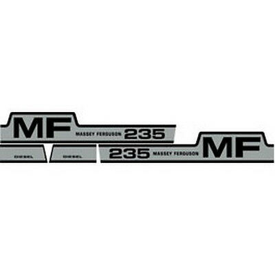 235 Massey Ferguson Tractor Hood Decal Kit Mf 235 Diesel High Quality Decals 🎯