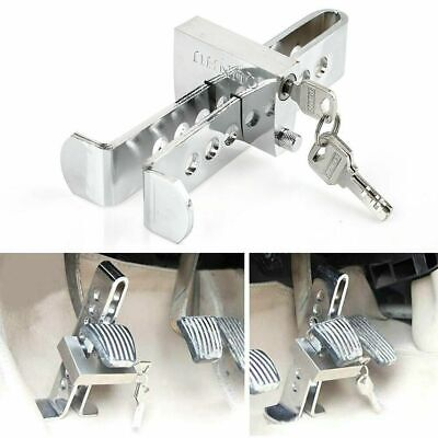 Auto Car Brake Clutch Pedal1 Lock1 Stainless Anti-Theft Strong1 Security1+3 Key