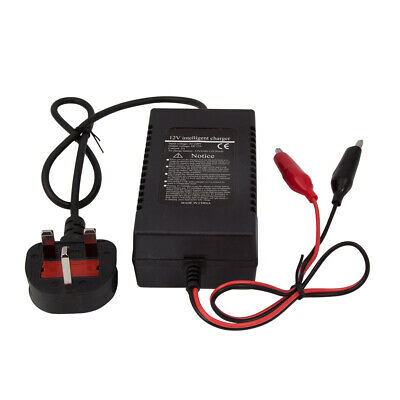 UK 12V Intelligent Motorcycle Motorbike Battery Charger Automatic Trickle Newest
