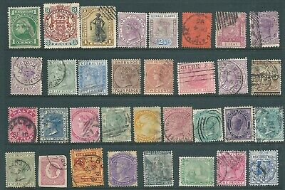 BRITISH COLONIES Queen Victoria used stamp collection