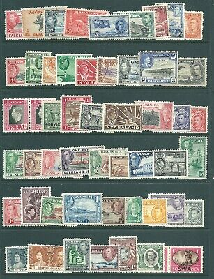 BRITISH COLONIES George VI mint stamp collection: Pictorials (b)