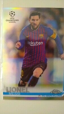 Leo Messi Champions League 2018/19 FC Barcelona Card carta futbol perfecto