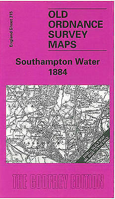 OLD ORDNANCE SURVEY MAP Southampton Water 1884: One Inch Map 315