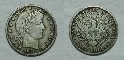 UNITED STATES : BARBER HALF DOLLAR 1911 - Good Detail