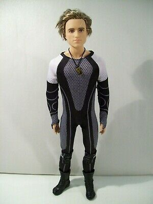 """Barbie Black Label The Hunger Games Catching Fire Peeta 12"""" Doll 2013"""