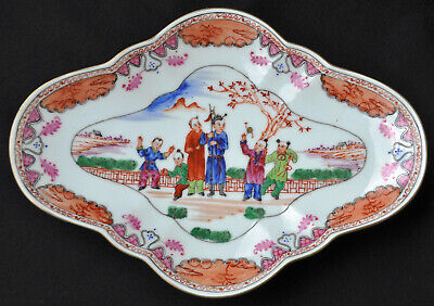 19Th Century Antique Chinese Porcelain Footed Bowl Plate