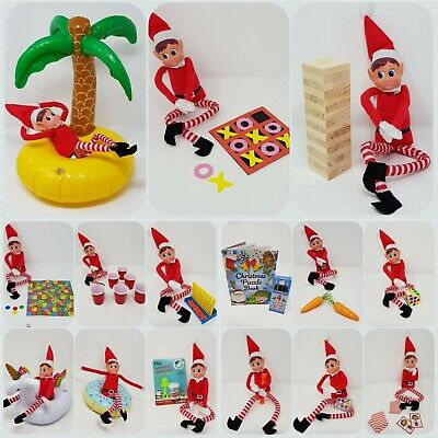 Elf GAMES Accessories Props Put On The Shelf Ideas Kit Christmas Decoration Joke