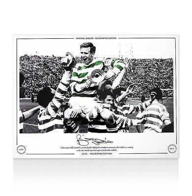 Billy McNeill Signed Celtic Photo - 1965 Scottish Cup Final Autograph