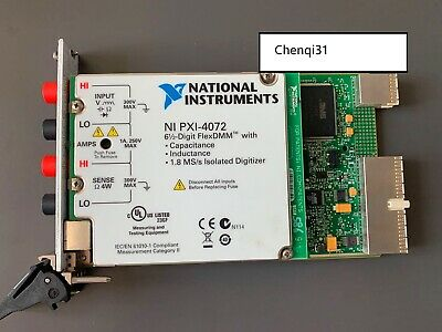 National Instruments NI PXI-4072 6.5 Digital Multimeter Card FlexDMM LCR Meter