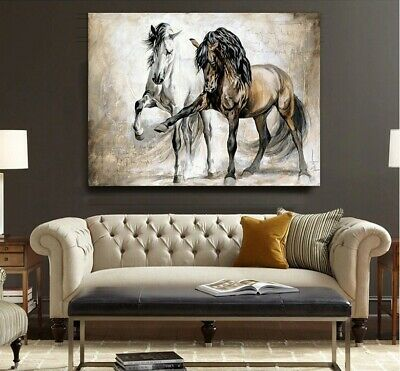 Horse Picture Abstract Canvas Wall Art Hanging Painting Pictures Home Decor UK