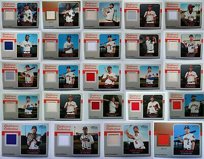 2019 Topps Heritage Clubhouse Collection Bat Jersey Relic Baseball Cards U Pick