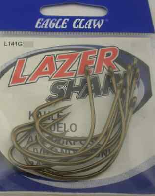 EAGLE CLAW L141RG #6 10CT RED KAHLE HOOKS 7054