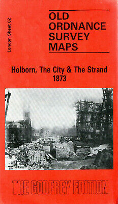Old Ordnance Survey Maps Holborn The City The Strand London 1873 modern reprint
