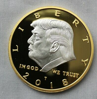 Donald Trump Gold & Silver Coin US President MAGA White House Americana 2020 Old