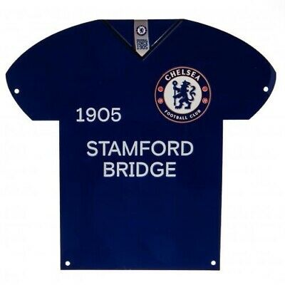 Chelsea Football Club Crest Blue & White Shirt Metal Sign Free UK P&P