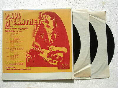 PAUL McCARTNEY * Wings From The Wings Live * 3 LPs 1976