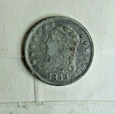 1833 Capped Bust Silver Half Dime FINE CONDITION
