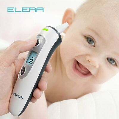 ELERA New Baby Thermometer Digital Infrared  IR LCD Baby Forehead and Ear