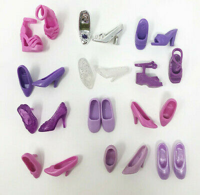 Barbie Doll Shoes 12 Pairs Purple Heels Boots Flats Tennis Shoes Mixed Lot 2
