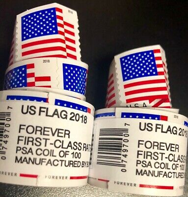 100 USPS FOREVER STAMPS 2018 roll of 100 FREE SHIPPING